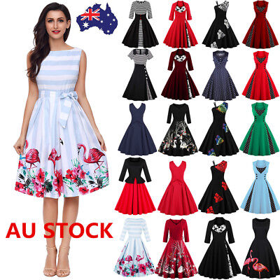 29 Style Plus Size Women 50s Vintage Swing Dress Evening Party Cocktail Dress