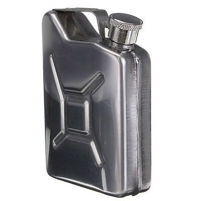 Mini Stainless Steel 5oz Hip Flask Liquor Whiskey Alcohol Fuel Gas Gasoline P1R8