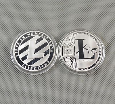 Hot Silver Plated Commemorative Litecoin Collectible Golden Iron Miner Coin Gift