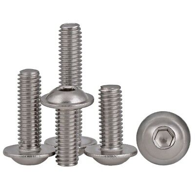 M4*8mm A2 304 STAINLESS HEX SOCKET FLANGED BUTTON HEAD ALLEN BOLTS SCREWS