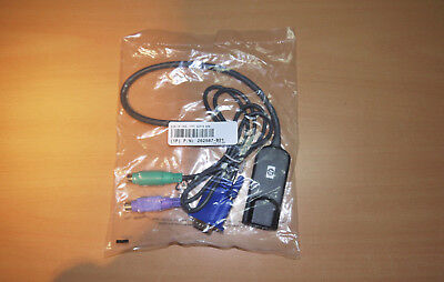 NEW/NEU HP 262587-B21 KVM CAT5 Interface Adapter RJ45 PS/2 VGA  SP: 396632-001