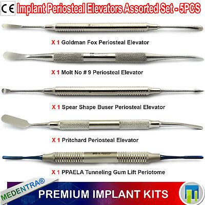 X 5 Implant Sinus Lift Periosteal Elevators Instruments Gum Tunneling Pdl Ppaela