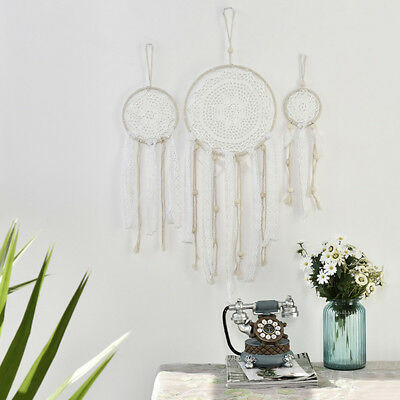 3Pcs Handmade Macrame Dream Catcher Woven Wall Hanging BOHO Chic Dreamcatcher