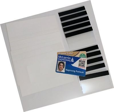 10 Teslin ID Card Kit - 1-Up Inkjet Teslin Sheets & Butterfly Pouches WITH 1/...