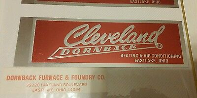 Vintage Cleveland Dornback decal heating & air conditioning Eastlake Ohio