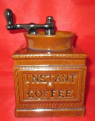 Instant Coffee Canister Looks like Coffee Grinder Ceramic