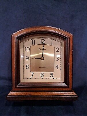 Vintage Bulova Mantel Clock with Westminster Chime