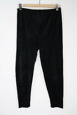 Mimi Maternity Black Velour Leggings Size M