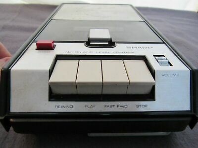 Sharp RD-418 Cassette  Tape Recorder - Portable Automatic Level Control