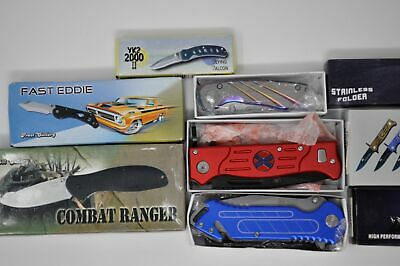 Lot of 6-Tactical Folding Pocket Knife Knives Hunting- Frost Cutlery (4748)