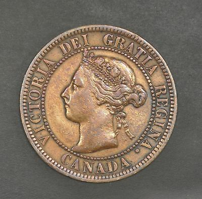 1899 Canada Penny Cent (820) Au Coin