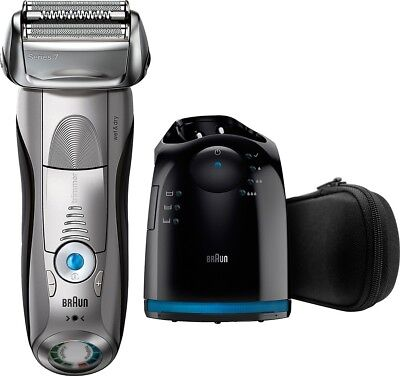 Braun Series 7 Wet/Dry Shaver 7899cc Clean & Charge System - Silver New In Box