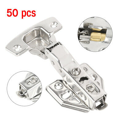 50X Self Close Kitchen Cabinet Hinge 1/2 Overlay Face Frame Concealed Hydraulic