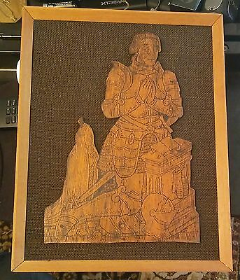 Vintage Original Brass Rubbing Of Sir Clement Heigham Of  England 1570