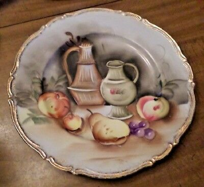 Vintage Collectible Plate Japan Decorative Wall Hanger Fruit Portrait China Dish