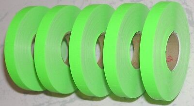 5 Rolls Genuine Avery Monarch 1110 Plain Fluorescent Green Price Gun Labels