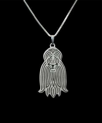 Shih Tzu Silver Charm Pendant Necklace, Dog Lover, Friend Gift