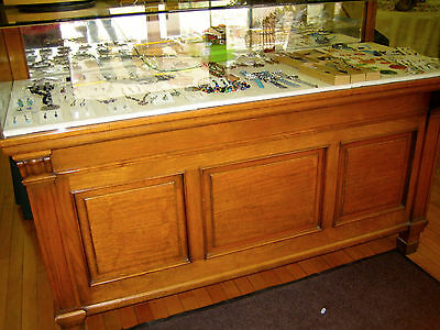Antique English Jewelry Counter Display Case.