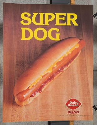 Vintage Dairy Queen Promotional Poster Super Dog Hot Dog 1980 dq2