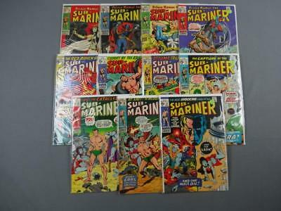 Sub Mariner Silver Age Lot Of 11 #'s 9,22-24,26-27,31-33, & 36-37 Fine-Marvel
