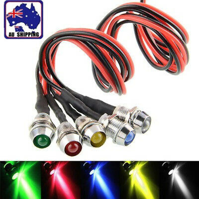 5x 12V LED Dash Pilot Panel Indicator Warning Light Lamp Car Boat Marine Van FG