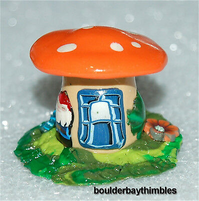 Boulder Bay Thimble - FOREST MUSHROOM HOUSE, GNOME & FLOWERS - NEW FH01