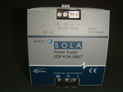 Sola, Class 2 Power Supply Sdp 4-24-100Lt, Used, Exlnt,