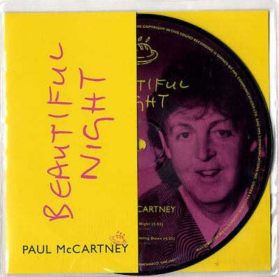 "Paul McCartney and Wings Beautiful Night UK 7"" vinyl picture disc single"