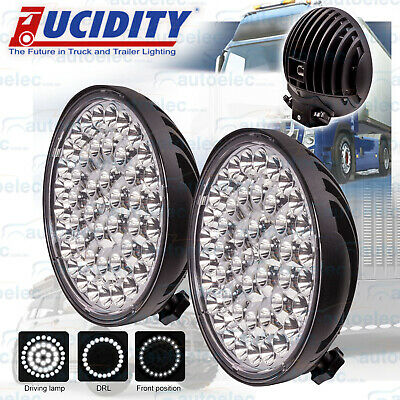 """Pair Lucidity 9"""" 3 In 1 Led Combo Spot Spread Driving Drl Lamps Lights Bull Bar"""
