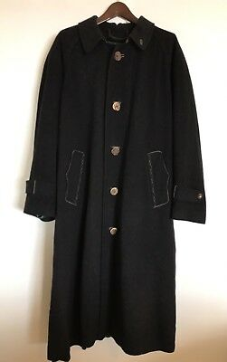 ZEILER Austrian Trench COAT Wool Alpine Trachten 50 German Octoberfest