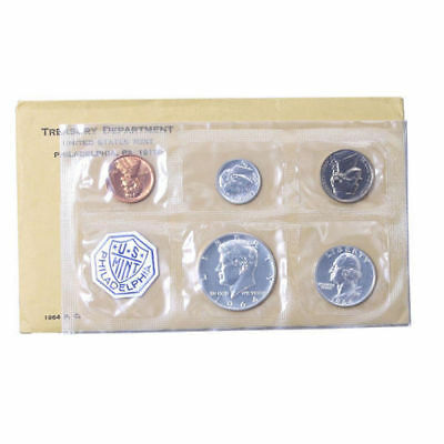 1964 Proof set Original Envelope 90% Silver US Mint (OGP) - 5 Coins