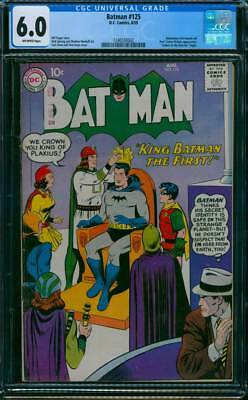 Batman # 125  King Batman the First !  CGC 6.0 scarce book !