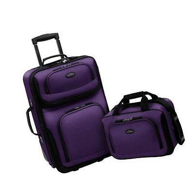 U.S Traveler Rio Two Piece Expandable Carry-on Luggage Set (15-Inch and 21-In...