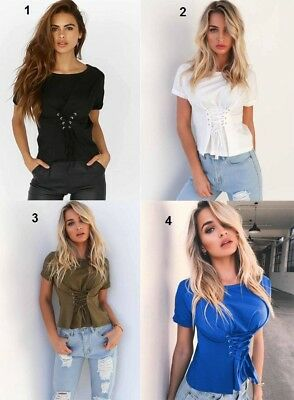 New Fashion Women's Ladies Casual Loose Tops Short Sleeve T-Shirt Summer Blouse