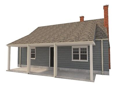 3 Bedroom House Plans DIY Two Story Home Building 832 sq/ft Build Your Own