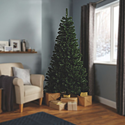 Clearance Sale: 213cm 7ft Classic Green Artificial High Density Christmas Tree