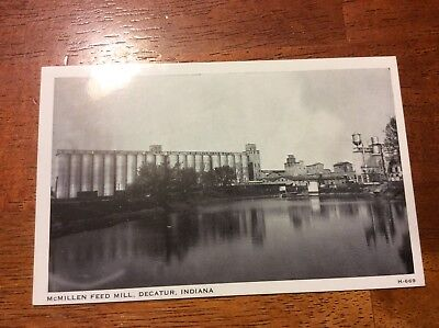 Postcard of McMillen Feed Mill in Decatur, Indiana. Unposted