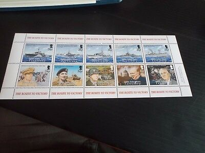 Indian Ocean Territory Sg 326-335 60Th Anniv Of The End Of World War 11. Mnh