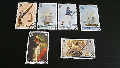 British Indian Ocean Territory 2005 Sg 319-324 Bicent Of Battle Of Trafalgarused