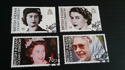 British Indian Ocean Territory 2006 Sg 348-351 80Th Birthday Of Queen  Used