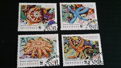 British Indian Ocean Territory 2001 Sg 253-256 Endangered Species  Used