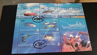 British Indian Ocean Territory 2004 Sg Ms295 Fisheries Patrol  Used