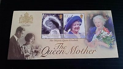 British Indian Ocean Territory 2002 Sg Ms269 Queen Mother Mnh