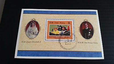 British Indian Ocean Territory 1997 Sg Ms201 Golden Wedding Used