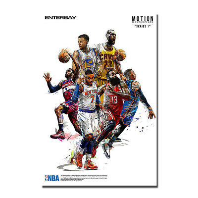 Stephen Curry LeBron James Basketball Stars Silk Fabric Poster Canvas Print