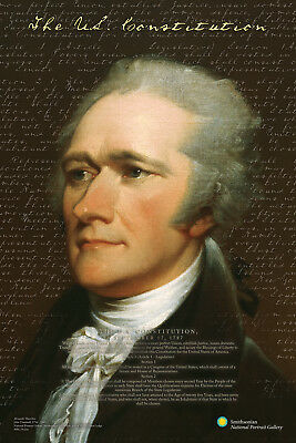 ALEXANDER HAMILTON - SMITHSONIAN POSTER 24x36 - US CONSTITUTION HISTORY 241416