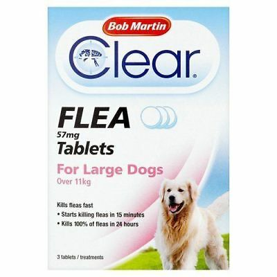 Bob Martin Clear Flea Tablets for Large Dogs Over 11kg FREEPOST
