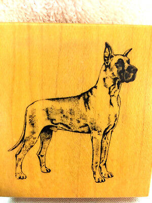 Rubber stamp - Great Dane Dog Craft