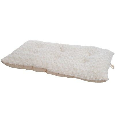 Petmaker Cushion Pillow Furry Pet Bed - Latte - 14 x 20 Inches Dog Bed Small