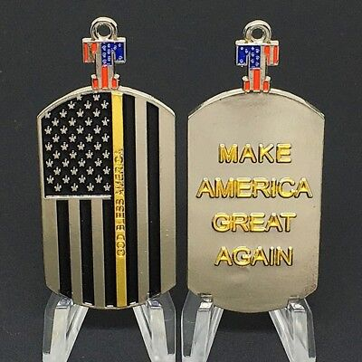 "Donald Trump ""RARE"" Make America Great Again Dogtag Challenge Coin Multi Color"